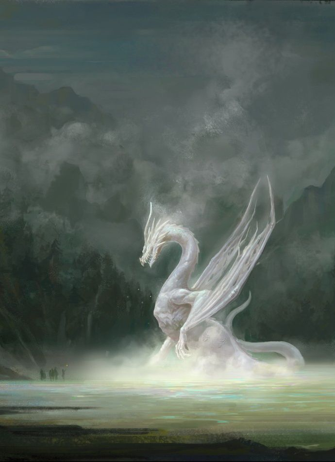 WHITE CRYsTAL ICE DRAGON almighty QUEEN POWER 4400 years old Italian All power - $69.77