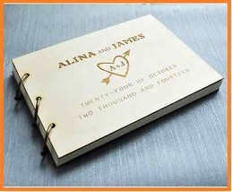 1pc Custom Wedding guest book personalzied with your names and date Brid... - $34.64