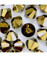4mm Crystal Dorado 2X Swarovski Xilion Beads 5328 ( 72 )  bronze bicone - $7.00
