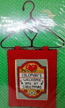 Design Works C8718 We Welcome You Hang Up Kit Heart Counted Cross Stitch Kit  - $22.32