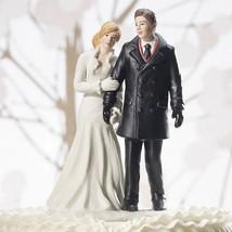 Winter Wonderland Wedding Couple Cake Topper Figurine Reception Gift Rom... - $34.64