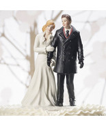 Winter Wonderland Wedding Couple Cake Topper Figurine Reception Gift Rom... - $34.64