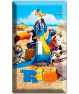 RIO 2 BLU PARROT SINGLE LIGHT SWITCH WALL PLATE COVER CHILDREN ROOM DECORATION - $8.99