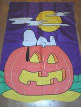 Halloween Snoopy on Pumpkin Garden Flag - $26.48 CAD