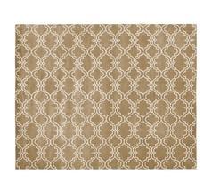 SALE Persian 8X10 ebay Scrolls Tiles Mocha wool... - $410.00
