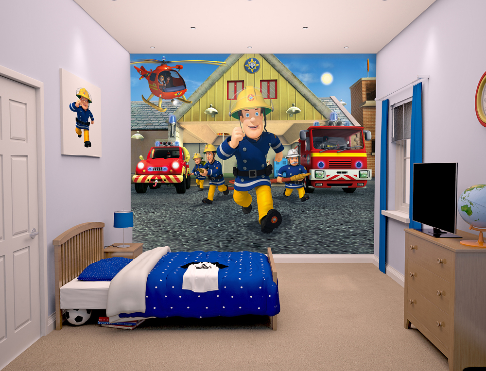Fireman sam wallpaper the image kid has it - Kinderzimmer gestalten wand ...