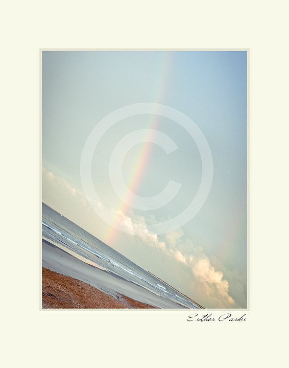'Rainbow over the Ocean' Fine Art Print - 8x10 print matted to 11x14