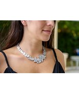 Women Statement Graffiti Chunky Silver Tribal Necklace Handmade - Unique... - $144.10