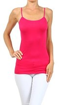 ICONOFLASH Women's Everyday Solid Color Thin Strap Camisole (Raspberry, One S... - $7.91
