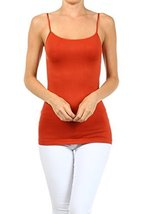 ICONOFLASH Women's Everyday Solid Color Thin Strap Camisole (Rust, One Size) - $7.91