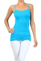 ICONOFLASH Women's Everyday Solid Color Thin Strap Camisole (Turquoise, One S... - $7.91