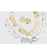 Trendy Statement Multiple Shaps Circle Triangle Gold Plated Necklace Uni... - $172.47