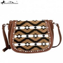 Montana West Aztec Collection Messenger Purse-Brown - $47.03