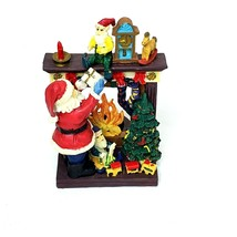 """Porcelain Gift Collection Christmas Fireplace Candle Holder Large 6x4"""" - $14.98"""