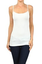 ICONOFLASH Women's Everyday Solid Color Thin Strap Camisole (White, One Size) - $7.91