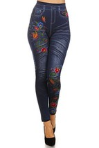 Women's Sublimation Legging (Butterflies in Wildflowers, One Size) - $14.84