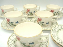 Nikko China Hampton  Provincial Designs Made in Japan  6 Cups 8 Saucer - $31.78