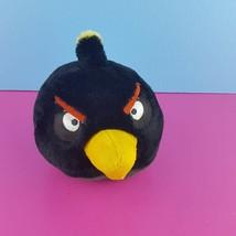 Angry Birds Plush Black Bomb Bird 6 Inch Commonwealth 2010 Stuffed Animal  - $12.87
