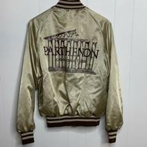 Vintage King Louie Gold Nylon Satin Bomber Jacket Parthenon Corporation ... - $29.67