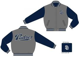 JH Design San Diego Padres Wool Reversible Jacket  - $109.95
