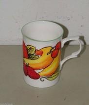 ROSE of ENGLAND Citrus Fruit Fine Bone China Cylinder Medium Mug 17005 - $19.12