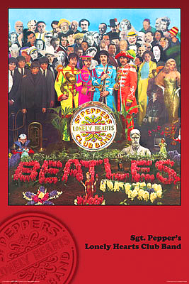 The Beatles Poster Sgt. Pepper's Lonely Hearts Club Band Cover 24x36 inches