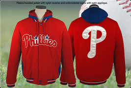 MLB Philadelphia Phillies Fleece Hoodie Jacket  - $84.95
