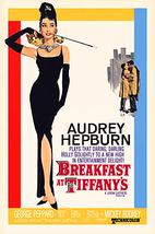 Breakfast At Tiffany's Movie Poster 24x36 inches Holly Golightly Audrey Hepburn - $16.99
