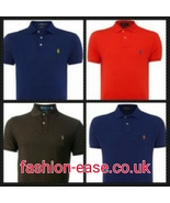 RALPH LAUREN MEN'S SHORT SLEEVE POLO TOPS/SHIRTS  CUSTOM FIT BNWTS] XXL/XL/L/M/S - $39.99