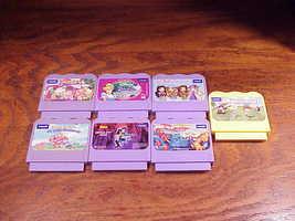 Lot of 7 V.Smile Educational Game Cartridges, Batman, Cinderella, Zayzoo - $9.95