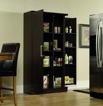 Jumbo Storage Kitchen Cabinet Wooden Pantry Shelf Tall Oak  - $305.06