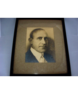 Antique Mounted Photograph Of A Prominent Man With An Antique Frame - $32.00