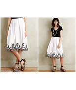 NWT Anthropologie $178 Poplin Eyelet Skirt Sz 0... - $53.99