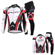 An item in the Sporting Goods category: Men's Cycling Jacket Bicycle Bike Outdoor Jersey+3D Padded Long Pants Set M-XXL