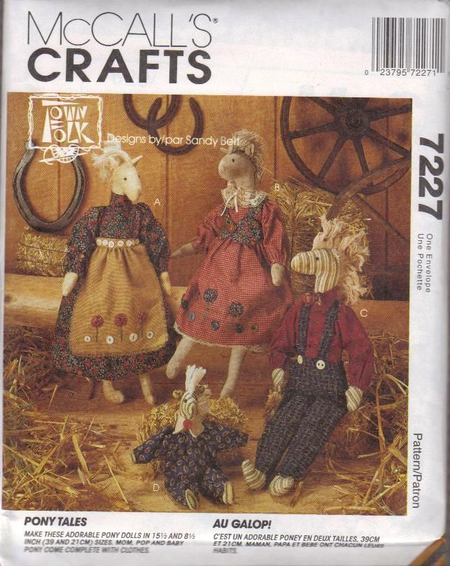 Primary image for McCall's Crafts 620 / 7227 Horse Pony Tales Dolls & Clothes Pattern