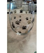 Cute Paw Print Stemless Glass - $10.00