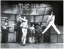 The Who Poster 33 1/2 X 23 1/2 inches Live Import RARE UK Townsend Daltry Moon - $16.99