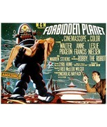 Forbidden Planet Poster 24x36 Horizontal RARE Robbie The Robot Anne Francis OOP  - $24.99