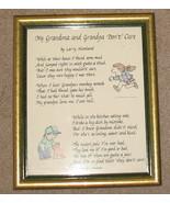 My Grandma & Grandpa Don't Care Plaque Framed - $14.25