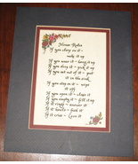 Matted House Rules Plaque - $12.50