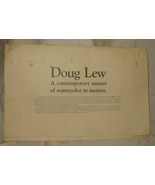 4 Doug Lew Lithograph Watercolor Prints - $65.44