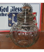 Antique Vintage Large Glass Apothecary Candy Jar - $165.00