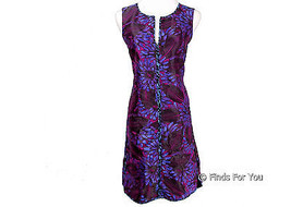 J Crew Petite Sleeveless Shirt Dress Midnight Floral Jacquard Sz 8 Style... - $2.001,09 MXN