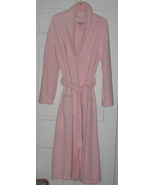 Kim Rogers Intimates Long Microfleece Pink Robe Size M - $35.00
