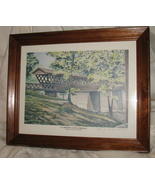 3 Vintage Johnny B. Hinkle Alabama Covered Bridge Prints - $160.00