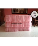 PINK Tulle Layered Complete Table Cover - $98.99+