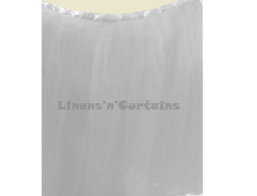 WHITE Satin Edge Tulle Tutu Ruffled Table Skirting Wrap Around