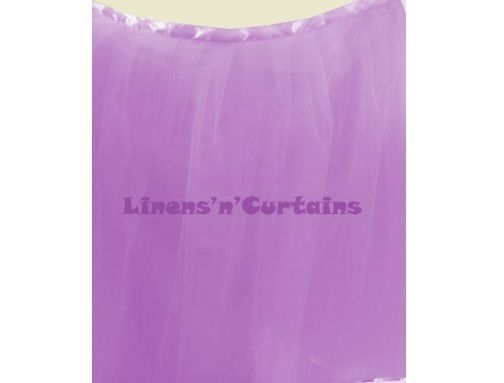 LILAC Satin Edge Tulle Tutu Ruffled Table Skirting Wrap Around