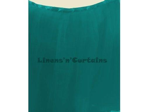 TEAL BLUE Satin Edge Tulle Tutu Ruffled Table Skirting Wrap Around