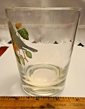 VINTAGE HAND PAINTED ROBIN OLD FASHION GLASS West Virginia Glass Spec. image 2